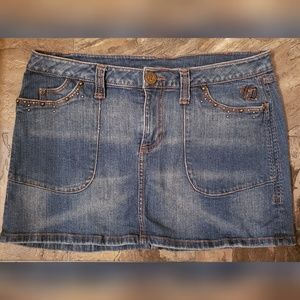 Harley Davidson Denim Mini Skirt